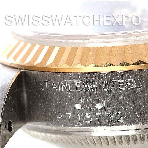 5200 Rolex Datejust Ladies Steel 18k Yellow Gold Watch 79173 SwissWatchExpo