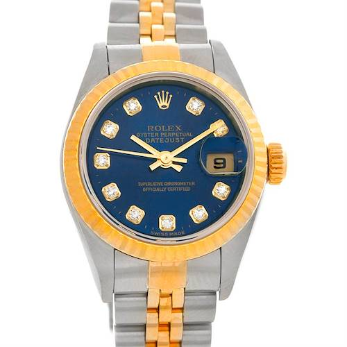 Photo of Rolex Datejust Ladies Steel 18k Yellow Gold Watch 79173