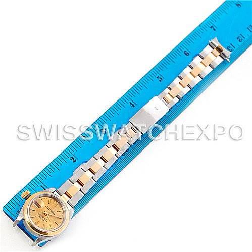 Rolex Datejus Ladies Steel 18k Yellow Gold Watch 69163 SwissWatchExpo