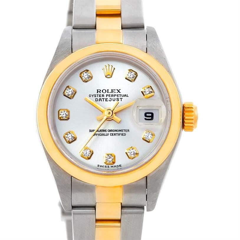 5297 Rolex Datejust Ladies Steel 18k Yellow Gold Diamond Watch 79163 SwissWatchExpo