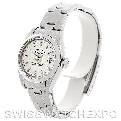 5496 Rolex Oyster Perpetual Datejust Ladies Steel Watch 79160 SwissWatchExpo