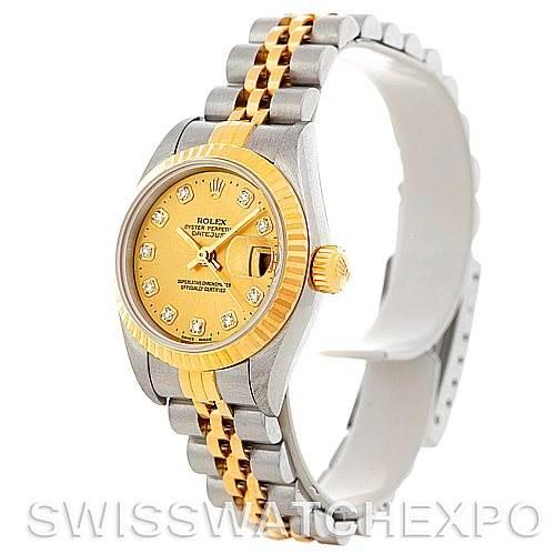 5181 Rolex Datejust Ladies Steel 18k Yellow Gold Diamond Watch 79173 SwissWatchExpo