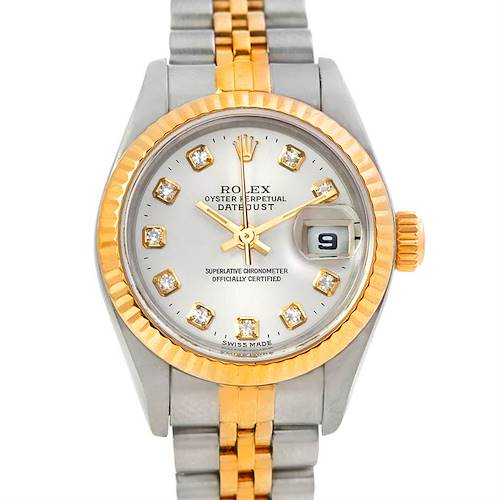 Photo of Rolex Datejust Ladies Steel 18k Yellow Gold Diamond Watch 79173