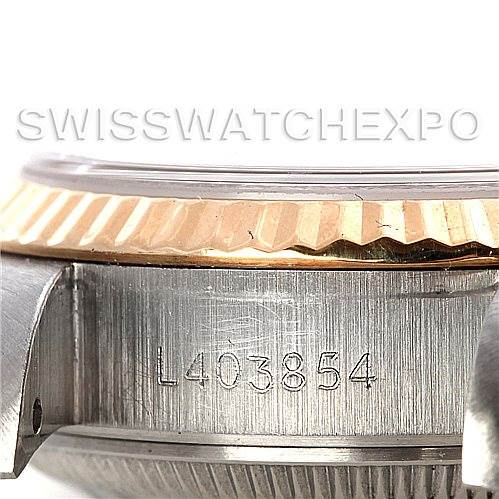 Rolex Datejus Ladies Steel 18k Yellow Gold Diamond 69173 Watch SwissWatchExpo