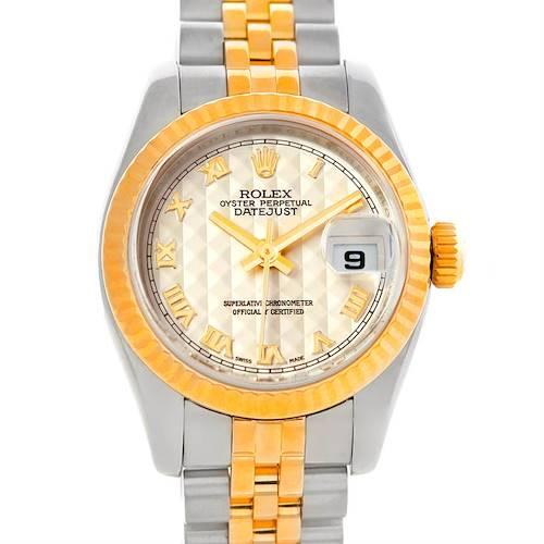 Photo of Rolex Datejust Ladies Steel 18K Yellow Gold Watch 179173
