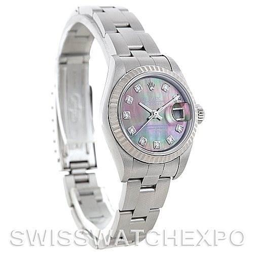 5699 Rolex Datejust Ladies Steel 18k White Gold Diamond Watch 79174 SwissWatchExpo