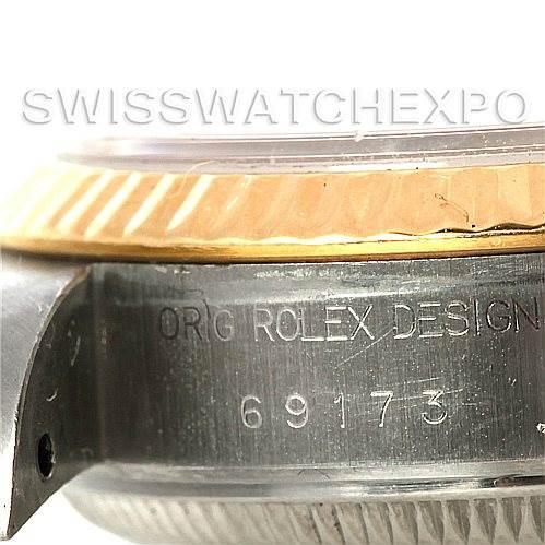 Rolex Datejus Ladies Steel 18k Yellow Gold 69173 Watch SwissWatchExpo