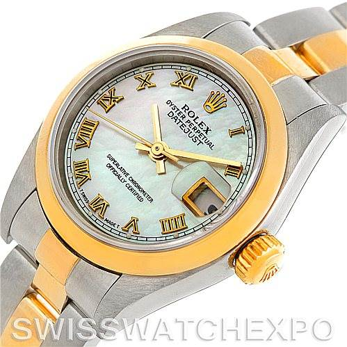 5926 Rolex Datejust Ladies Steel 18k Yellow Gold MOP Watch 79163 SwissWatchExpo