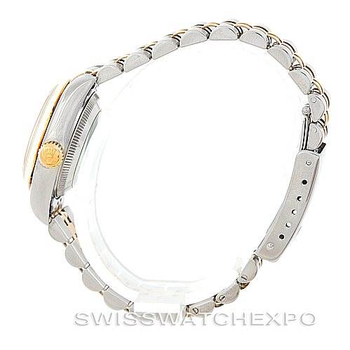 Rolex Datejus Ladies Steel 18k Yellow Gold White Dial 69173 SwissWatchExpo