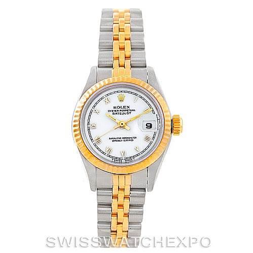 6069 Rolex Datejust Ladies Steel 18k Yellow Gold Watch 69163 SwissWatchExpo