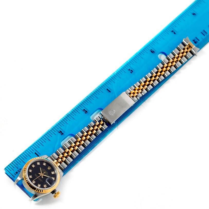Rolex Datejus Ladies Steel 18k Yellow Gold Diamond Watch 69173 SwissWatchExpo