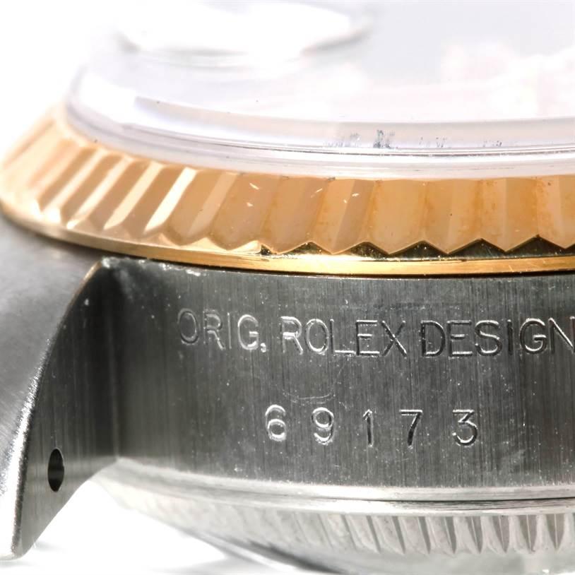 9059 Rolex Datejust Ladies Steel 18k Yellow Gold Diamond Watch 69173 SwissWatchExpo