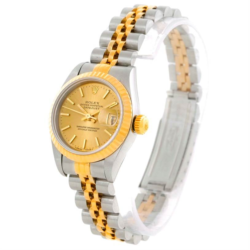 9689 Rolex Datejust Ladies Steel 18k Yellow Gold Watch 69173 SwissWatchExpo