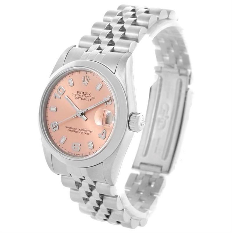 Rolex Midsize Datejust Salmon Dial 31 mm Ladies Steel Watch 78240 SwissWatchExpo