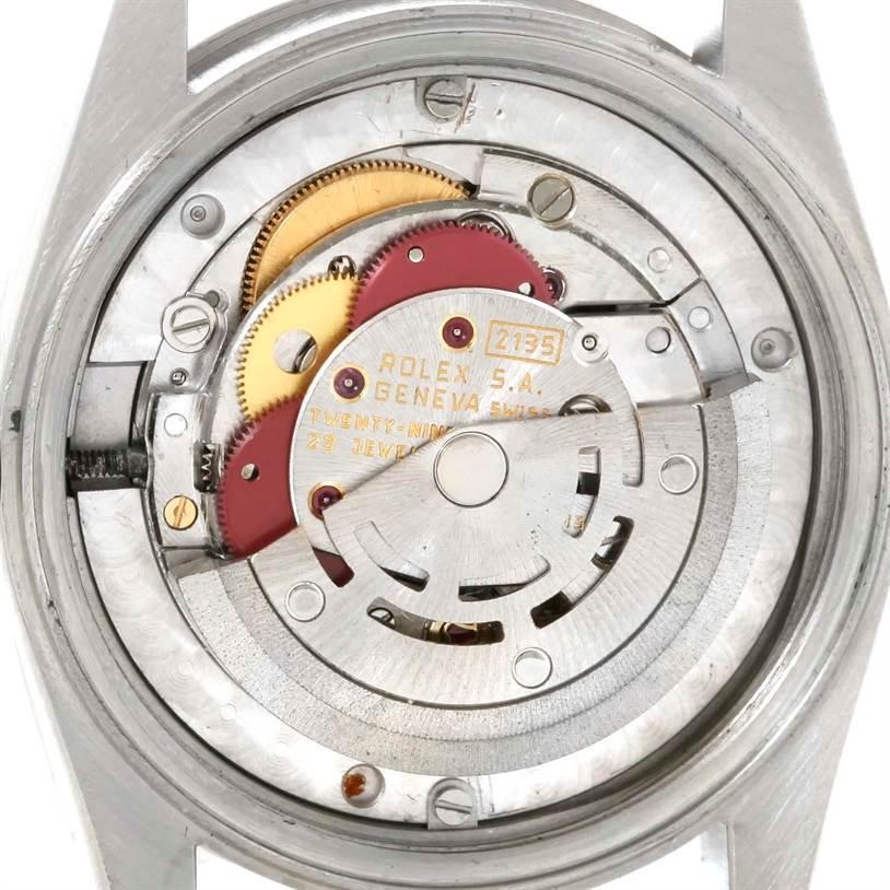 Rolex Midsize Datejust Stainless Steel Black Diamond Dial Watch 68240 SwissWatchExpo