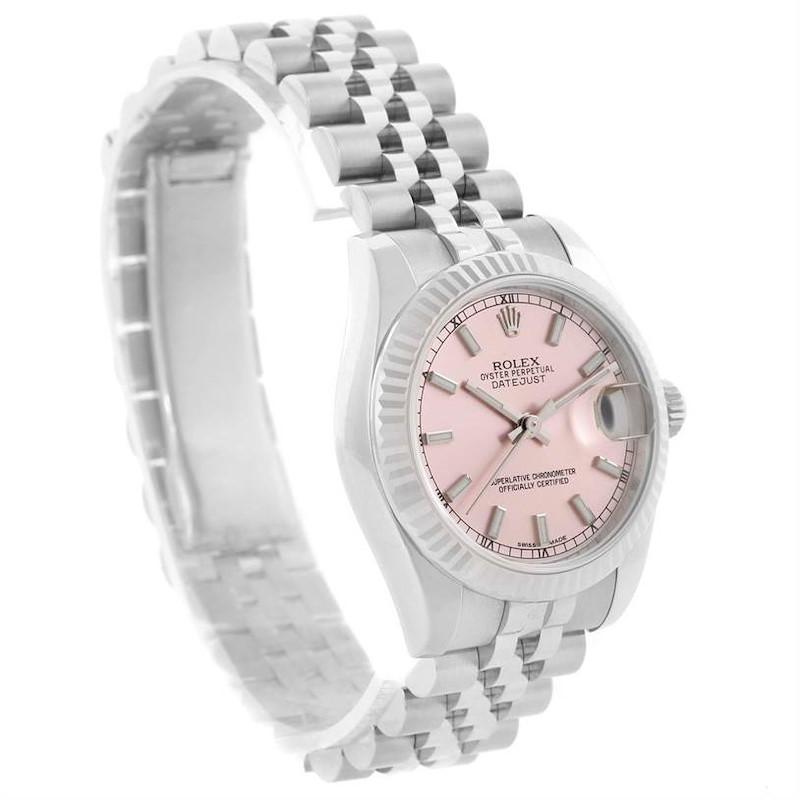 Rolex Datejust Midsize Steel 18k White Gold Watch 178274 Unworn SwissWatchExpo