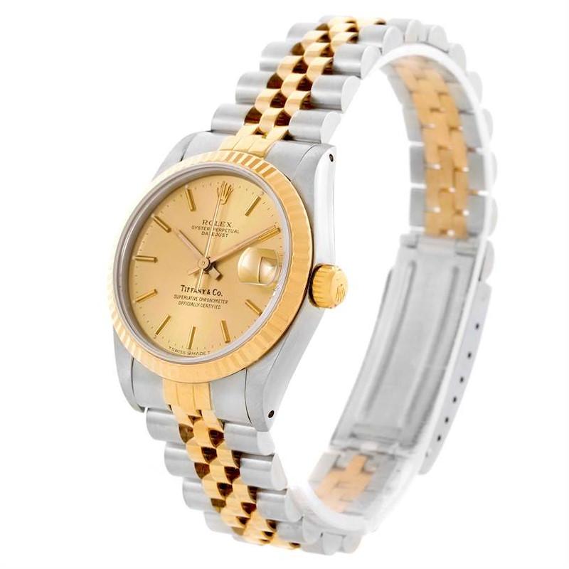 Rolex Datejust Midsize Steel Yellow Gold Jubilee Bracelet Watch 68273 SwissWatchExpo