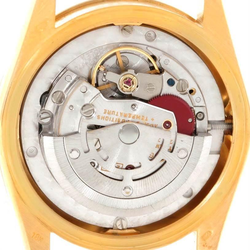 Rolex President Datejust Midsize 18K Yellow Gold Diamond Watch 68288 SwissWatchExpo