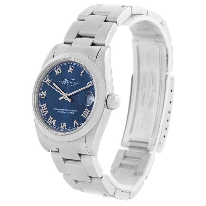 Rolex Midsize Datejust Stainless Steel Oyster Bracelet Watch 68240 SwissWatchExpo
