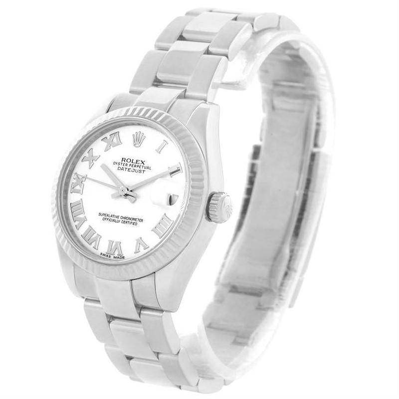Rolex Datejust Midsize Steel 18k White Gold Oyster Bracelet Watch 178274 SwissWatchExpo
