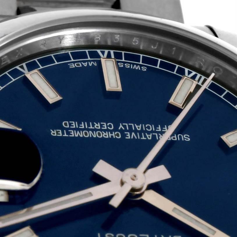Rolex Midsize Datejust Blue Dial Stainless Steel Watch 178240 SwissWatchExpo