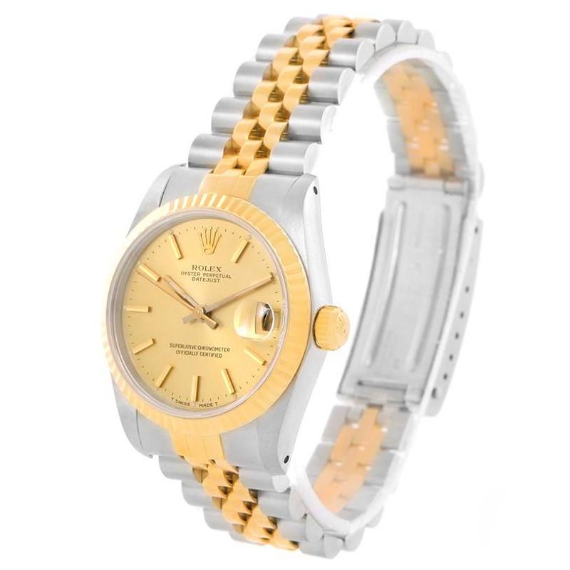 Rolex Datejust Midsize Steel Yellow Gold Automatic Ladies Watch 68273 SwissWatchExpo