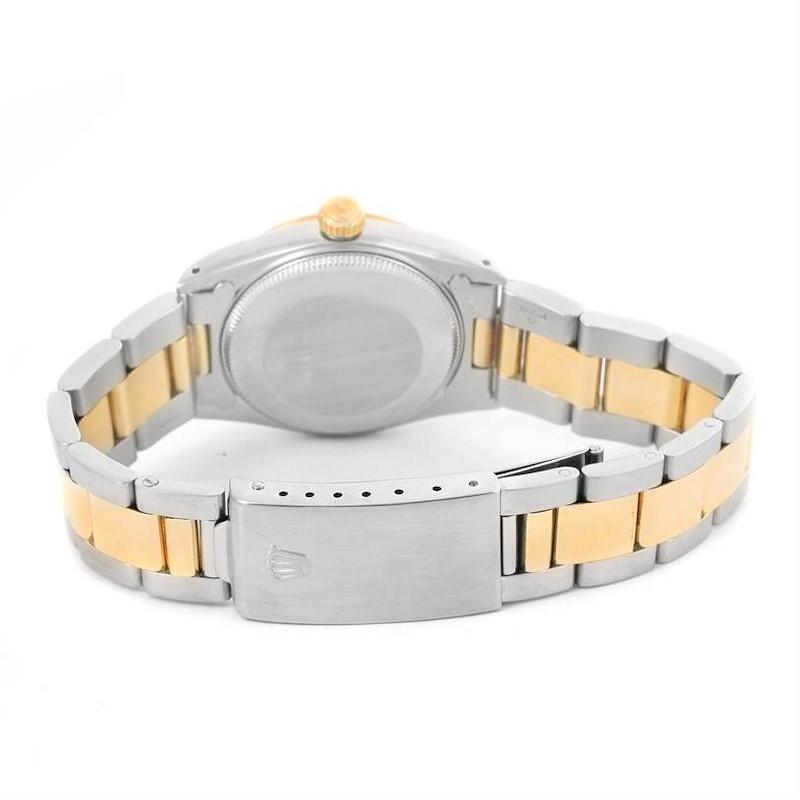 Rolex Datejust Midsize Steel Yellow Gold Arabic Dial Ladies Watch 68273 SwissWatchExpo