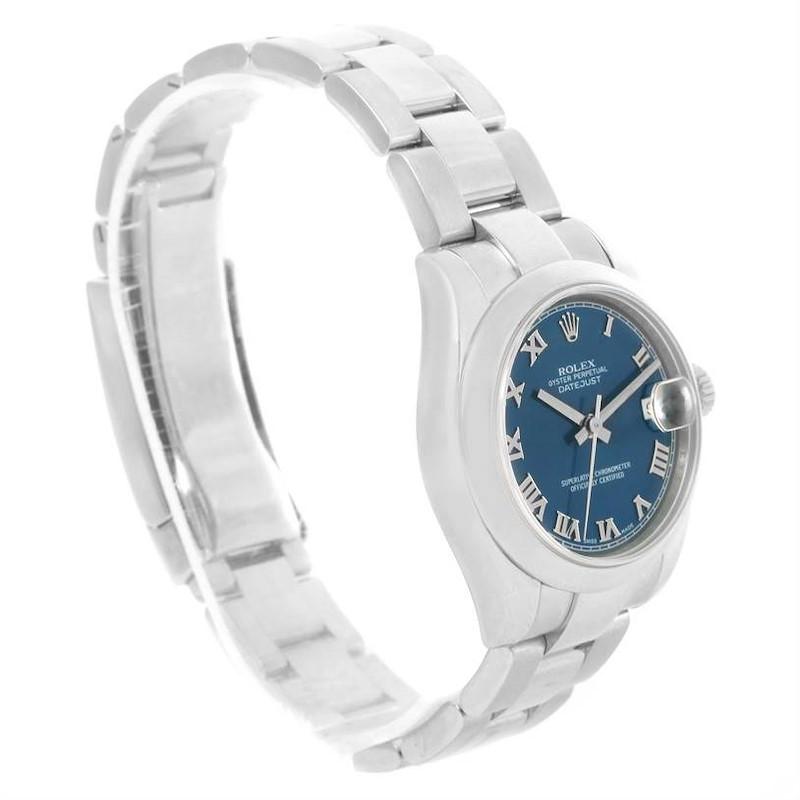 Rolex Datejust Midsize Blue Roman Dial Automatic Steel Watch 178240 SwissWatchExpo