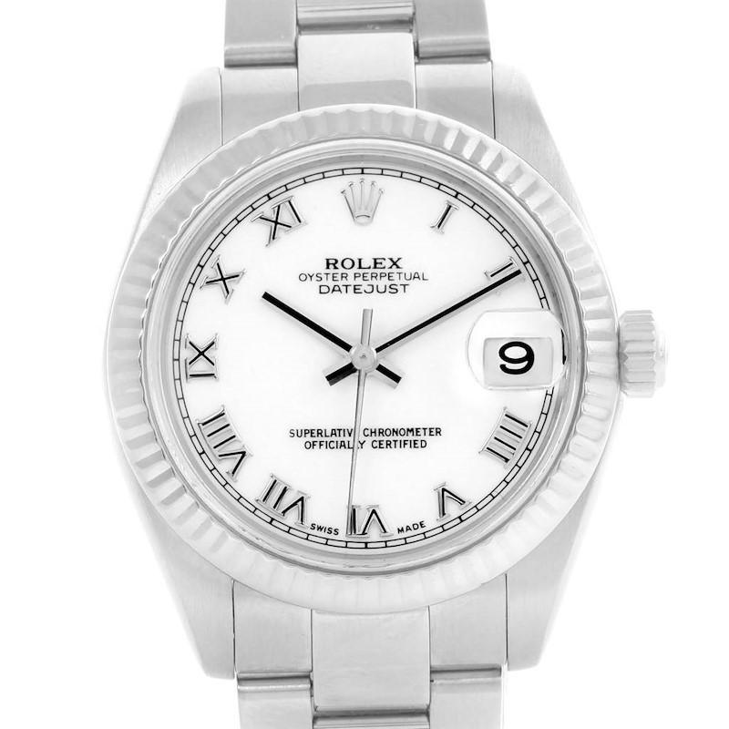 Rolex Datejust Midsize Steel White Gold Roman Dial Ladies Watch 178274 SwissWatchExpo
