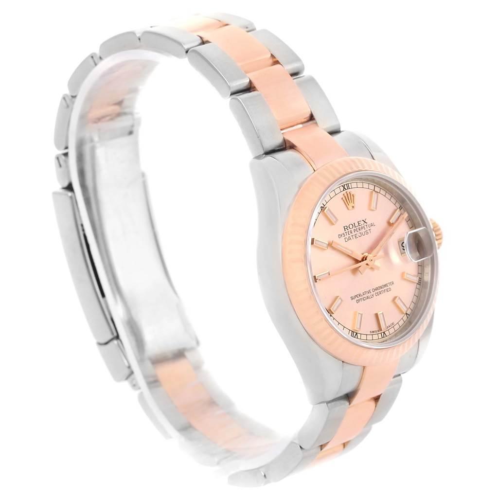 Rolex Datejust Midsize Steel 18k Rose Gold Oyster Bracelet ...
