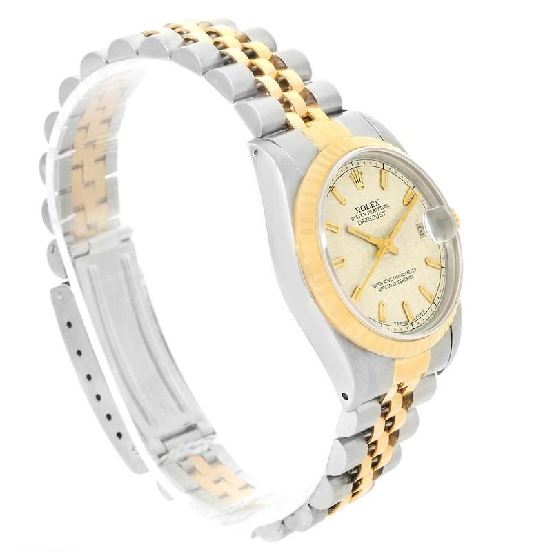 Rolex Datejust Midsize Steel Yellow Gold Jubilee Dial Watch 68273 SwissWatchExpo