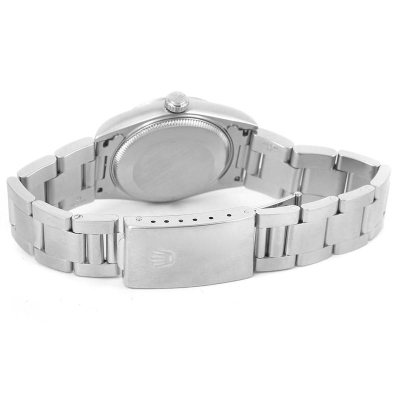 Rolex Midsize Datejust Stainless Steel White Roman Dial Watch 68240 SwissWatchExpo