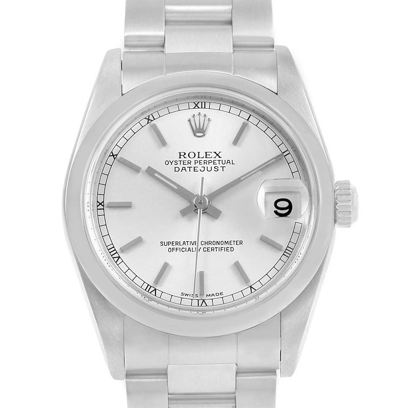 Rolex Datejust Midsize Silver Dial Stainless Steel Ladies Watch 78240 SwissWatchExpo