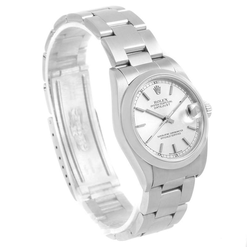Rolex Datejust 31 Midsize Silver Baton Dial Steel Ladies Watch 78240 SwissWatchExpo