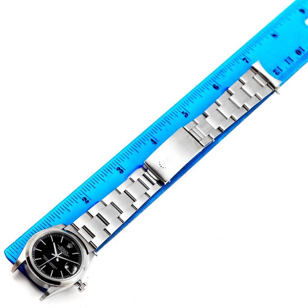 Rolex Datejust 31 Midsize Black Baton Dial Steel Womens Watch 78240 SwissWatchExpo
