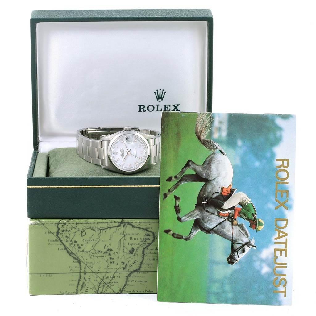 15874 Rolex Midsize Datejust 31 White Dial Ladies Steel Watch 68240 SwissWatchExpo