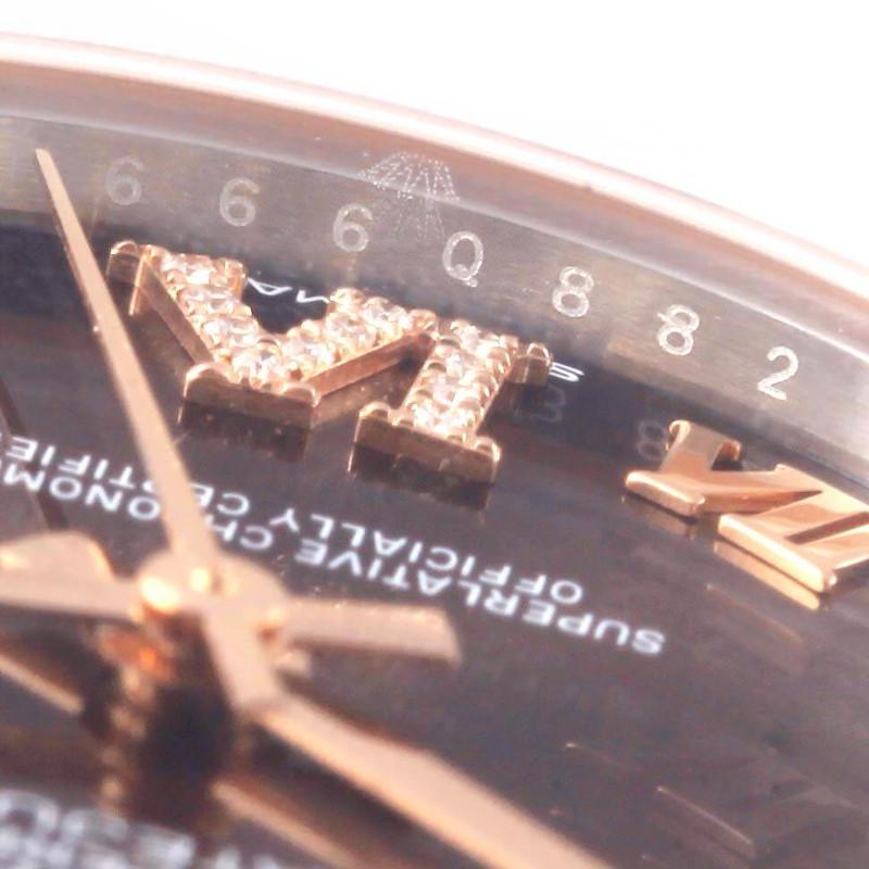 Rolex Datejust Midsize Steel Rose Gold Diamond Watch 178271 Unworn SwissWatchExpo