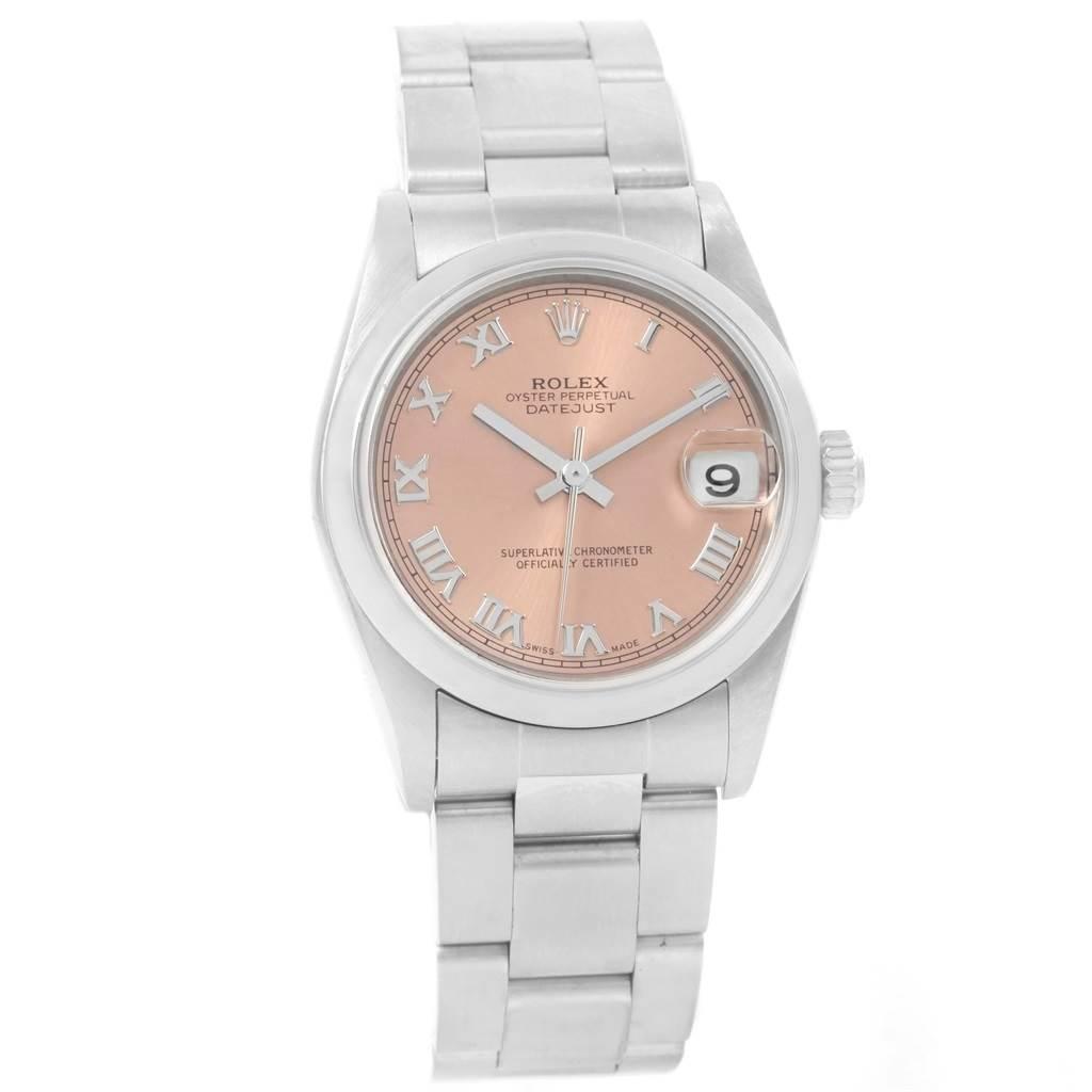 Rolex Datejust Midsize Salmon Roman Dial Ladies Watch 78240 Box Papers SwissWatchExpo