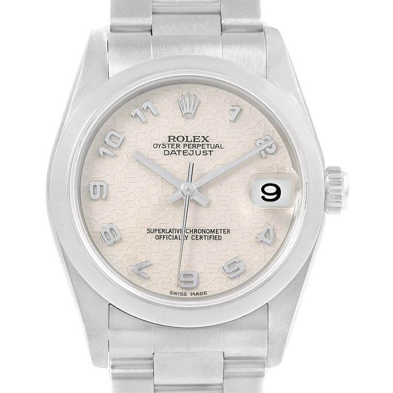 Rolex Midsize Datejust 31 Jubilee Arabic Dial Ladies Steel Watch 68240 SwissWatchExpo