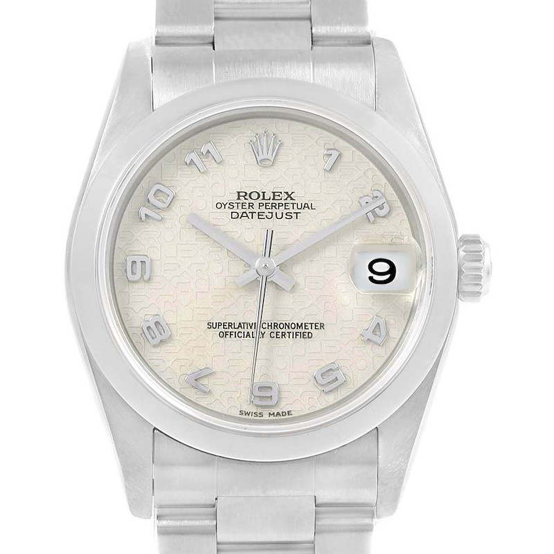 Rolex Datejust 31 Midsize Jubilee Dial Steel Womens Watch 78240 SwissWatchExpo