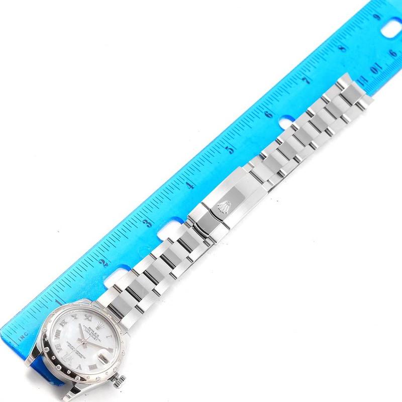 Rolex Datejust 31 Midsize Steel MOP Diamond Ladies Watch 178344 SwissWatchExpo
