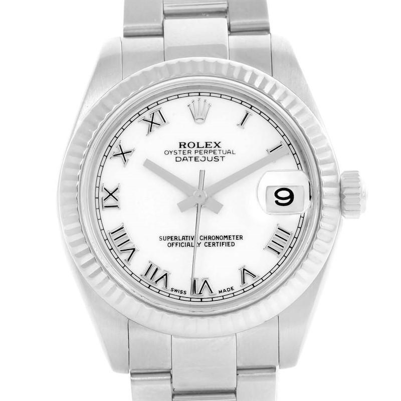 Rolex Datejust Midsize Steel 18k White Gold Automatic Watch 178274 SwissWatchExpo