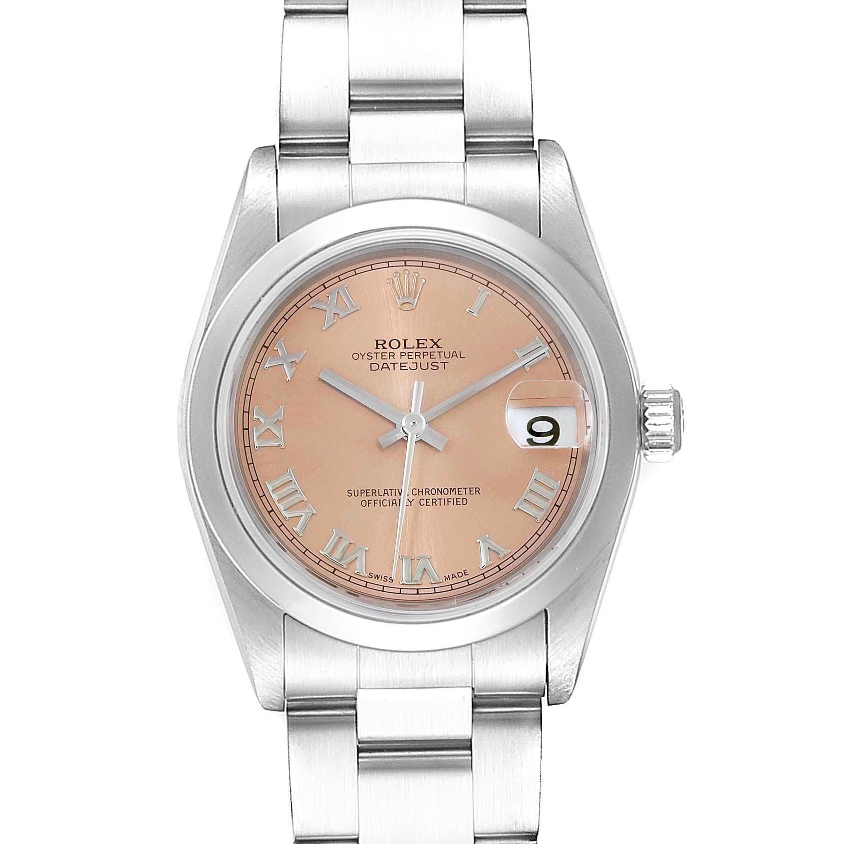 Rolex Datejust 31 Midsize Salmon Dial Oyster Bracelet Ladies Watch 78240 SwissWatchExpo