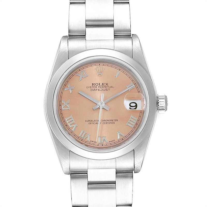 Rolex Datejust 31 Midsize Salmon Dial Oyster Bracelet Ladies Watch 78240 SwissWatchExpo