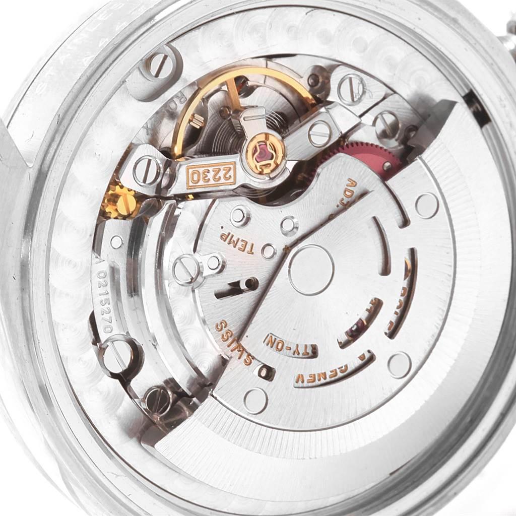 18769 Rolex Midsize Black Dial Oyster Bracelet Steel Ladies Watch 77080 SwissWatchExpo