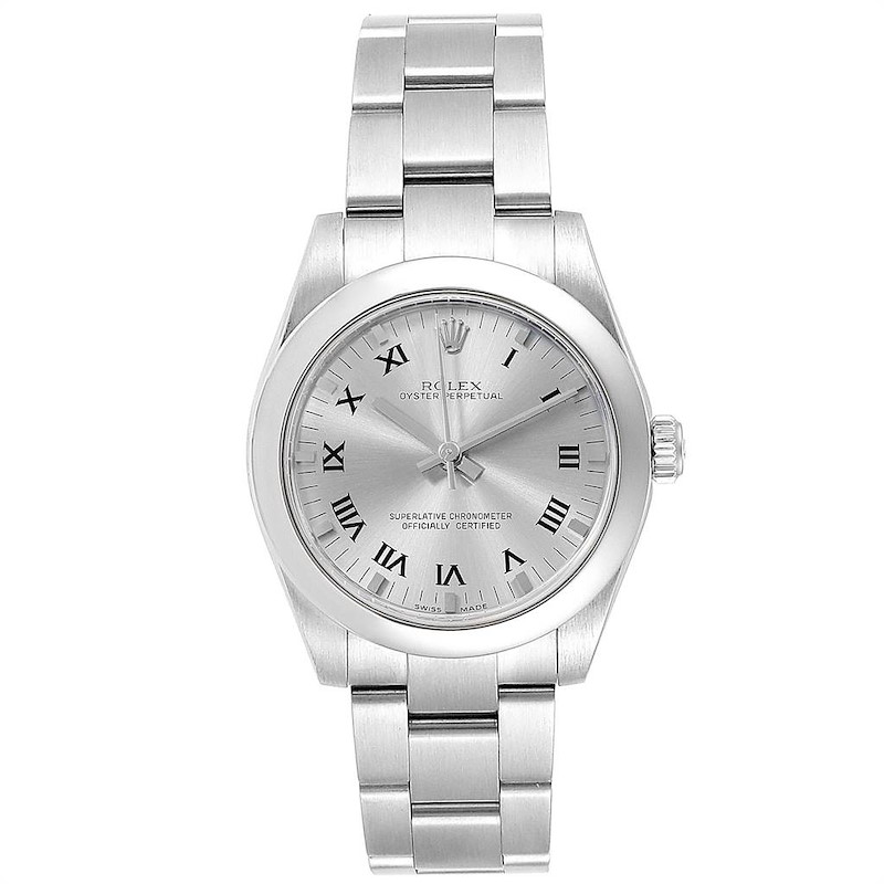 Rolex Oyster Perpetual 31 Midsize Slate Dial Ladies Watch 177200 SwissWatchExpo