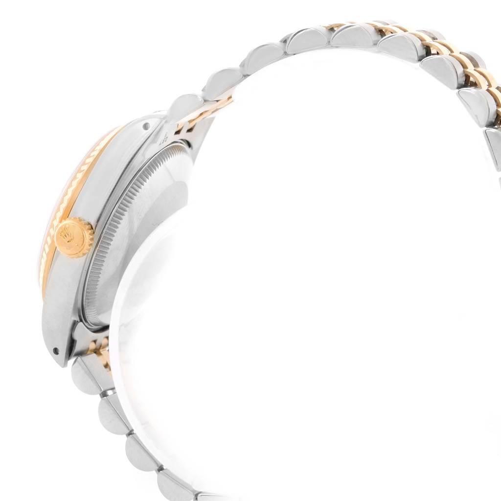 18205 Rolex Datejust Midsize Steel Yellow Gold Baton Dial Ladies Watch 68273 SwissWatchExpo