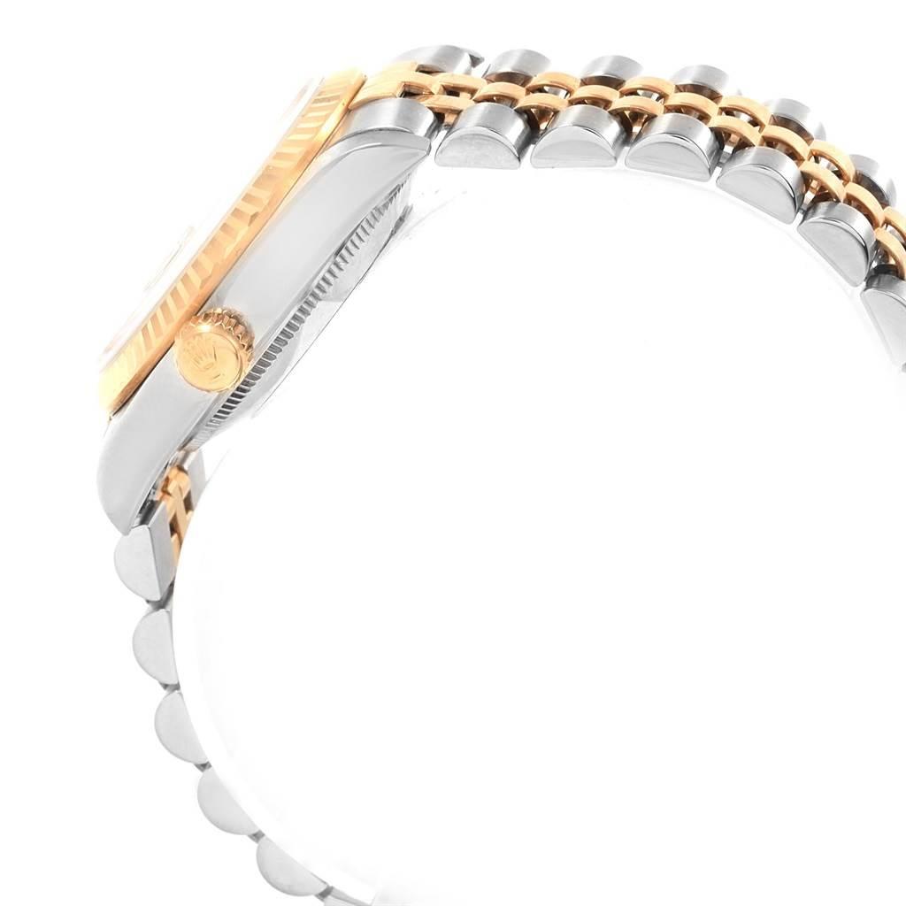 Rolex Datejust 31 Midsize Steel Yellow Gold White Dial Ladies Watch 68273 SwissWatchExpo