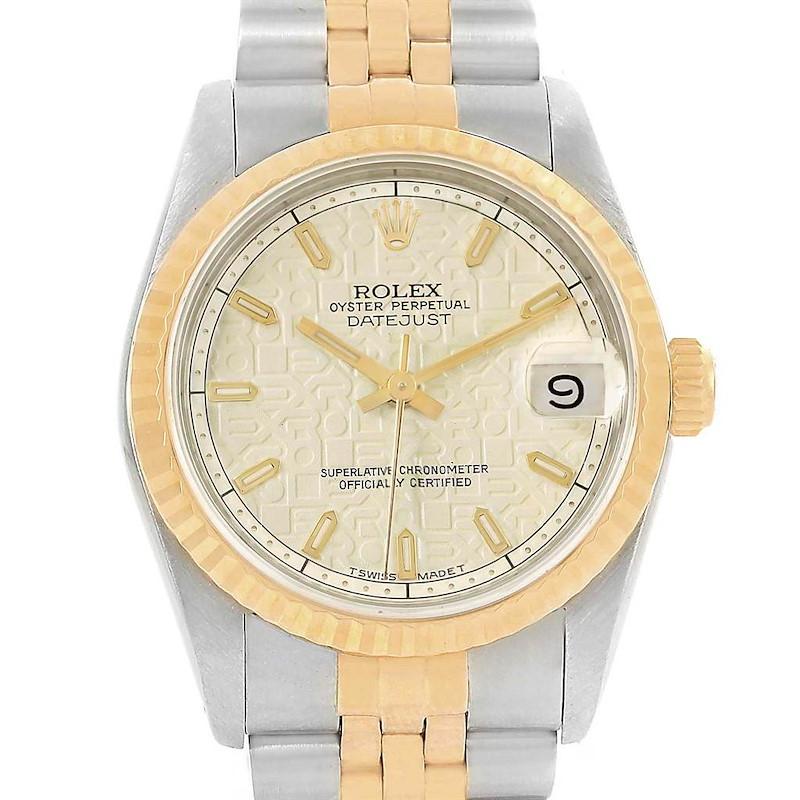 Rolex Datejust 31 Midsize Steel Yellow Gold Ladies Watch 68273 Box Papers SwissWatchExpo