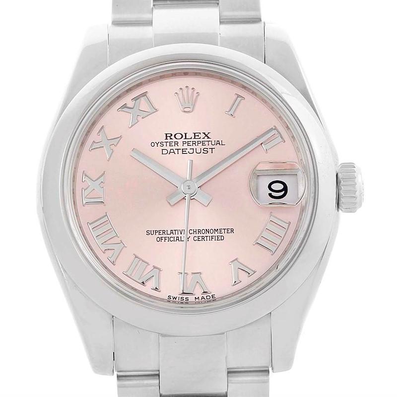 Rolex Datejust Midsize Rose Roman Dial Steel Ladies Watch 178240 SwissWatchExpo